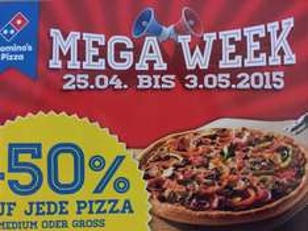 50% Mega Week Dominos [Gießen LOKAL]
