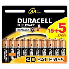 [Amazon.de] 15+5 Pack Duracell Plus Power Batterie AA (MN1500/LR6) für 8,99€ inkl. Versand