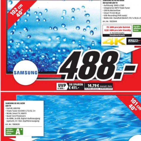 [lokal] MM MÜLHEIM a.d. Ruhr - Samsung 40HU6900 4k für 488€ !