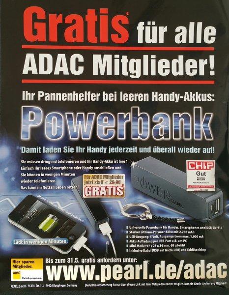 Powerbank Gratis für ADAC Mitglieder