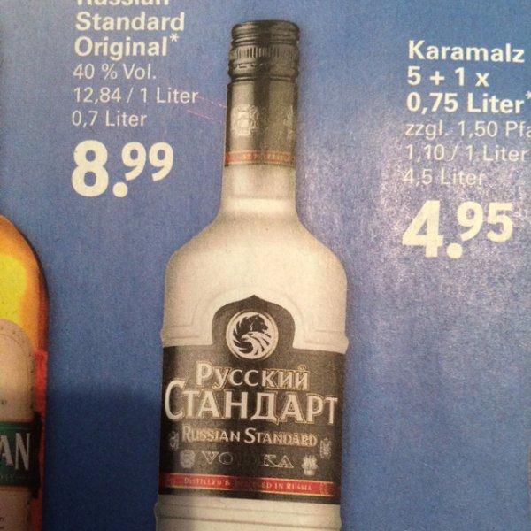 [Netto mit Hund] Russian Standard Original Vodka 40% Vol. 8,99€