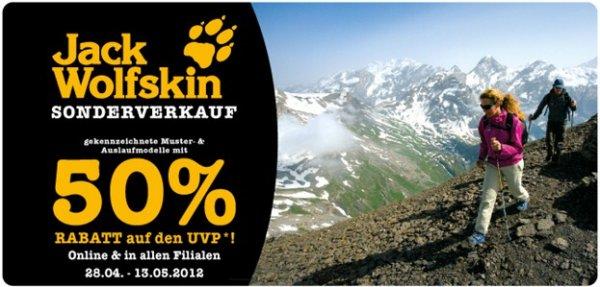 Outdoor-Bekleidung: 50% auf viele Artikel von Jack Wolfskin bei McTrek