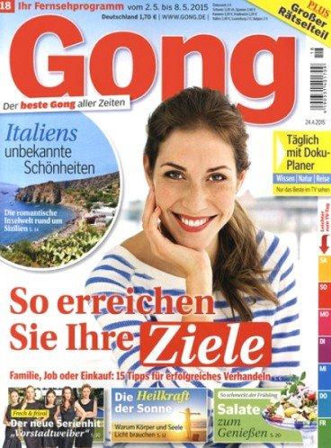 """Magazin """"Gong"""" ein Jahr lang für 93,00€ mit 90,00€ Universal-Gutschein oder 80,00€ Bargeld"""
