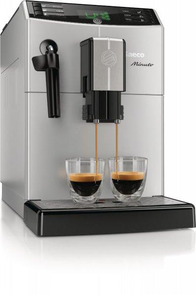 [WHD] Saeco HD8761/11 Minuto Kaffeevollautomat, Dampf-/Heißwasserdüse, silber