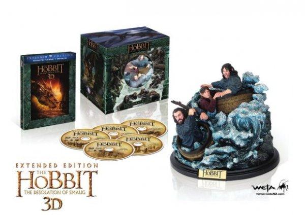 Hobbit Smaugs Einöde Extended Bluray mit Weta Figur 35€ bei MM Stuttgart Hbf (Vermutlich Lokal)