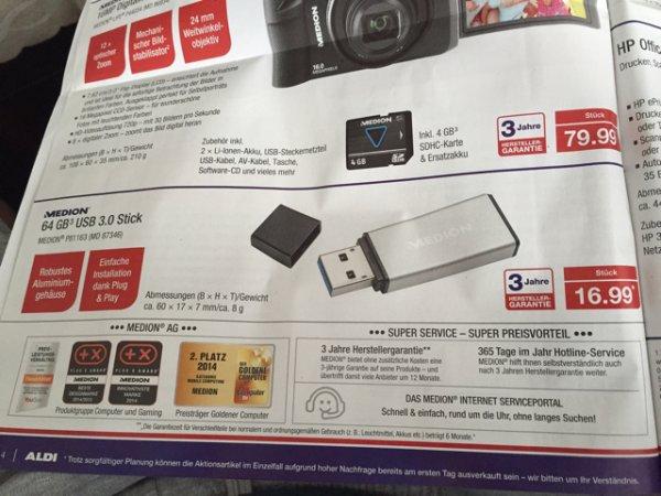[ALDI NORD NRW] 64GB USB 3.0 Stick MD 87346