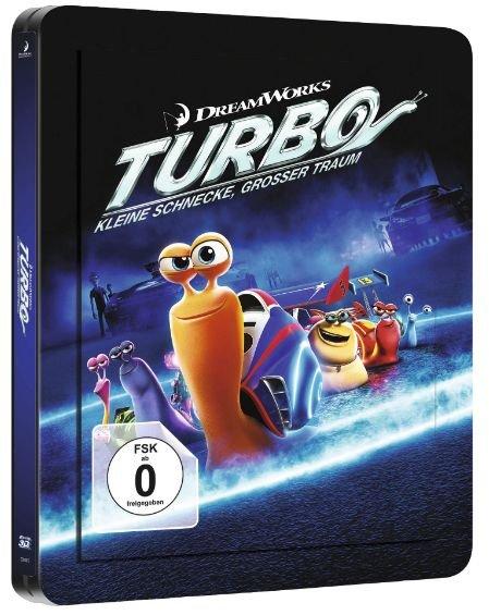 """Blu-ray 2D&3D - Turbo """"Kleine Schnecke, großer Traum"""" (Steelbook Edition / 2 Discs) ab €11,84 [@Saturn.de]"""
