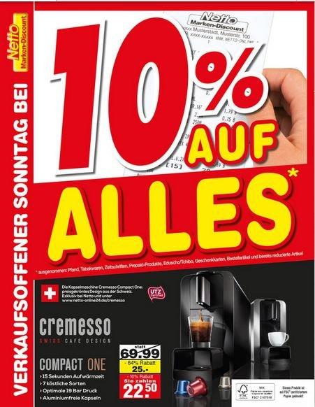 Kapselmaschine Cremesso Compact One [Netto Marken Discount in 86925 Leeder]