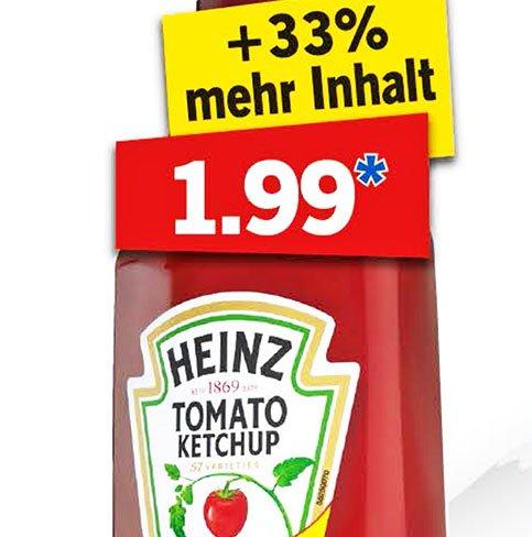 Heinz Ketchup in der Sondergröße, 1170 ml für 1,99 € bei [ Lidl ]