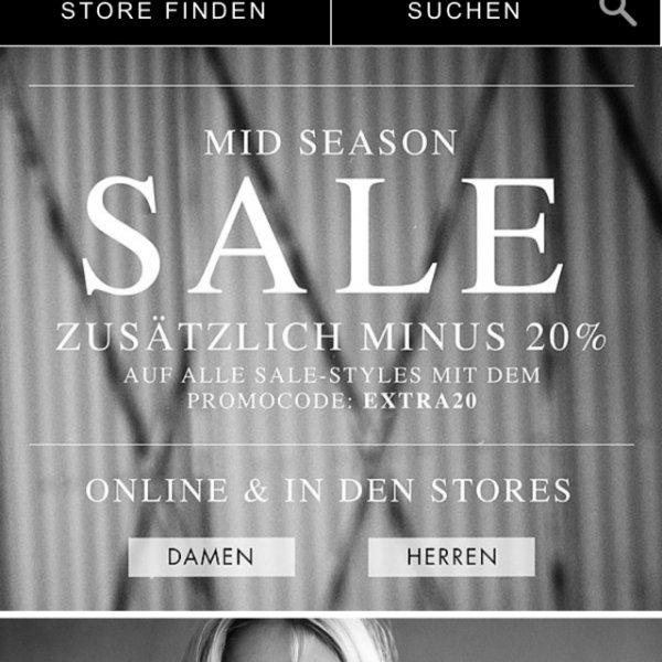 20% auf alle Allsaints Sale Artikel