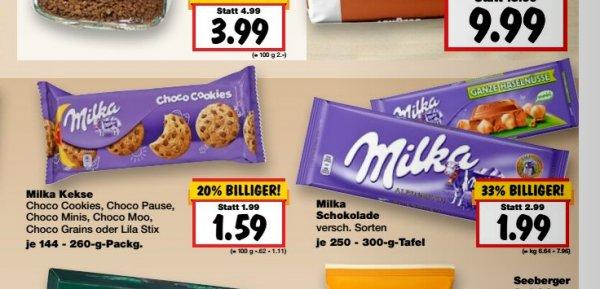 [KW19]Kaufland, 3xMilka Schokolade (250g-300g) für 1,32€ pro Tafel mit Coupon oder scondoo