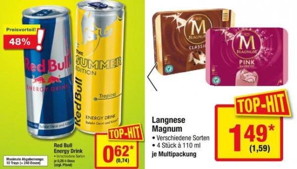 [metro 13.-20.05.] Red Bull 0,25er 0,62€/0,74€ | Magnum 4er 1,49€/1,59€