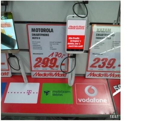 [Lokal Media Markt Sindelfingen] Motorola Moto X 1.Gen 170€