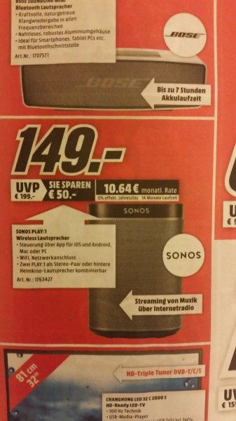 [Lokal MM Heidelberg] Sonos Play:1 Eröffnungsangebot 149 € nur 30.04. bis 21 Uhr