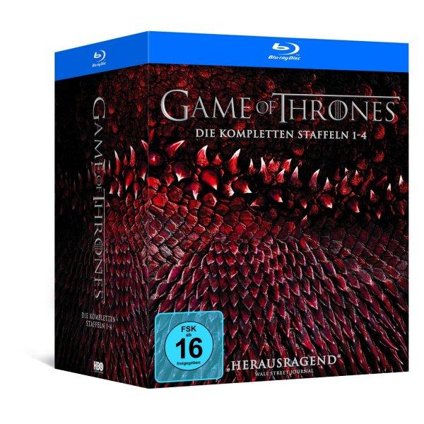 Game of Thrones Staffel 1-4 (Digipack + Bonusdisc + Fotobuch)  [Blu-ray] [Limited Edition] für 89,97 € > [amazon.de]