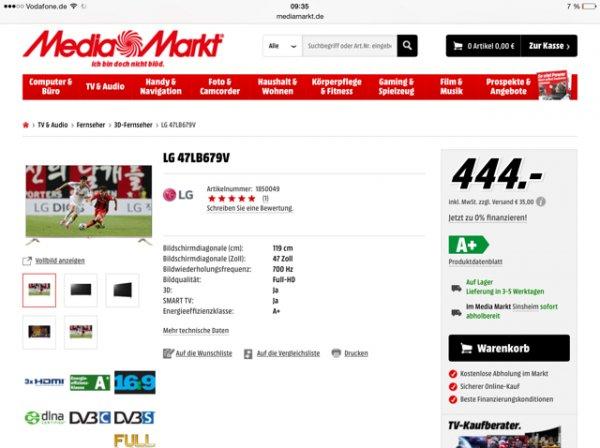 Lg 47 LB 679 - Media Markt Online - BestPreis