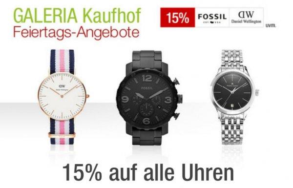 [Galeria.de] 15% auf Uhren, nur heute