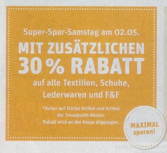 [LOKAL Hamburg] in 3x REWE Centers gibt es morgen -30% auf gesamte Textilabteilung, auch bereits Reduziertes