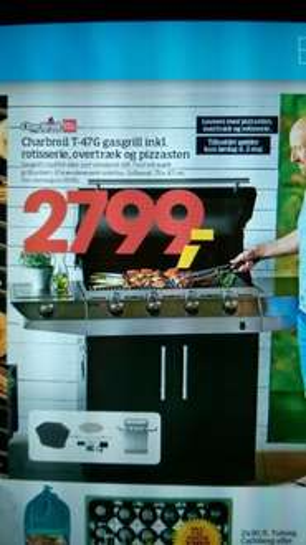 [BILKA Dänemark] Char Broil T-47G Grill inkl Pizzastein, Haube und Rotisserie nur am 02.05. PVG 649 € ohne Zubehör
