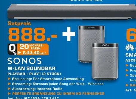 [Lokal Saturn Siegburg] Sonos Playbar + 2x Sonos Play1 Lautsprecher für 888,-€ Nur am 03.05
