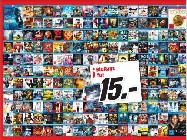 [Lokal Wuppertal] Media Markt 5x Blu-Rays für 15 €