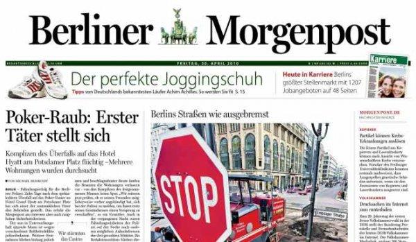 Berliner Morgenpost  14 Tage Gratis  (Abo läuft automatisch aus!)
