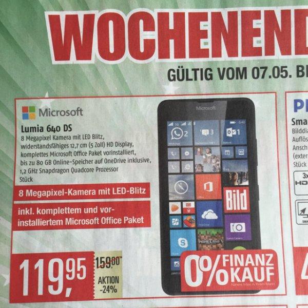 Lokal Hamburg Marktkauf Lumia 640 DS für 119,95€