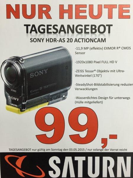 (Lokal) Saturn Berlin & Potsdam Sony HDR-AS 20 wasserdichte Actioncam für 99€ als Tagesangebot am 03.05.2015