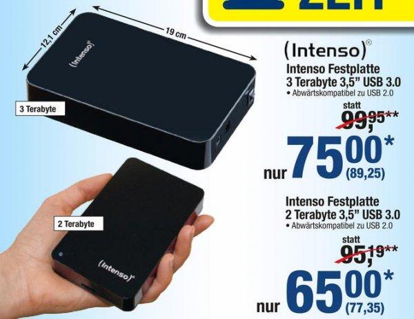 [METRO 07.-20.05.] Intenso externe Festplatte 2 Terabyte 3,5'' USB 3.0