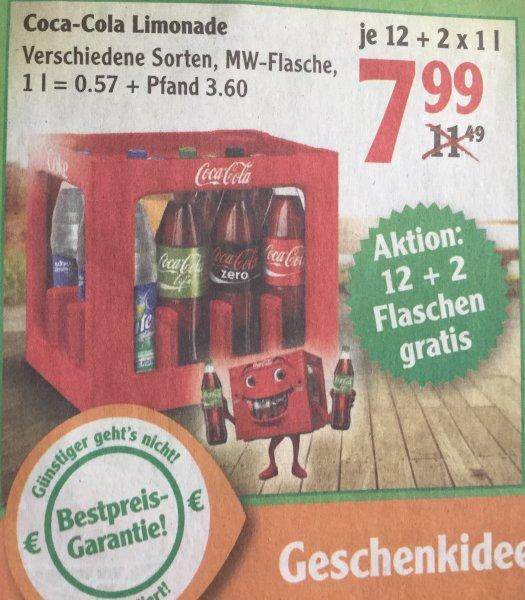 Coca-Cola 14 Flaschen für 7,99€ bei Globus (KW19)