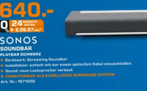 [Lokal Hagen/Iserlohn] Sonos Playbar nur am 3.5.