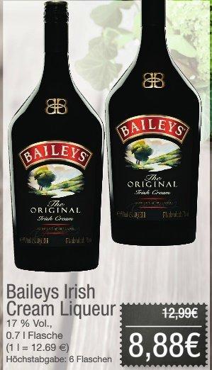 "[Offline JIBI/COMBI) Baileys Irish Creme Liqueur ""The Original"" 0,75l Flasche für 8,88€"