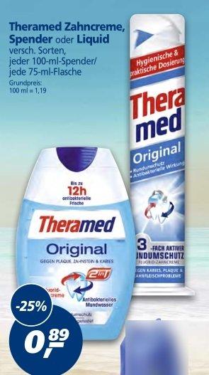 [Real] Theramed Zahncreme, div. Sorten für nur  ≈0,48€ pro Stück 04.05 - 09.05.15