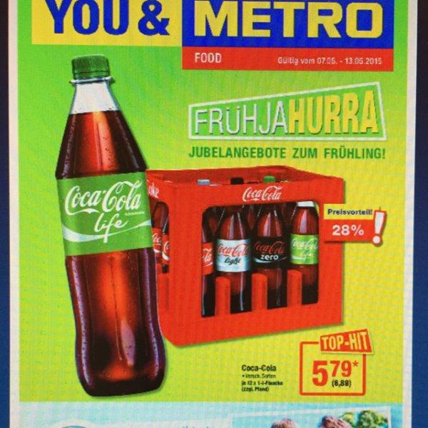[METRO bundesweit] Coca Cola 12x1 Liter für 6,89€