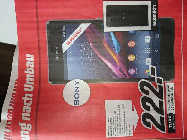 Sony Xperia z1 compact @ Media Markt Gießen für 222 Euro