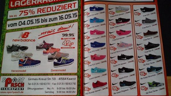 Lokal in Kaarst - Nike Free 5.0 - Sport Pasch doppelt