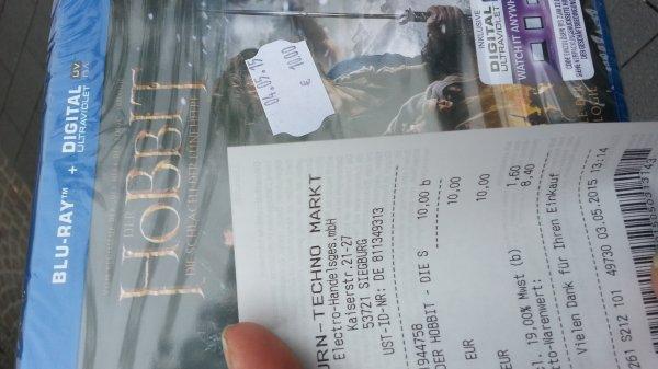 [lokal Siegburg - Saturn 03.05.15] Der Hobbit - Die Schlacht der fünf Heere als Blu-Ray für 10 €