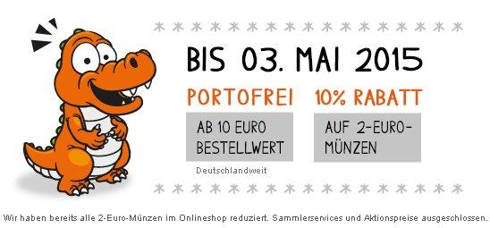 Nur heute, kostenloser Versand und 10 % RABATT auf alle 2-Euro-Münzen. @Reppa.de