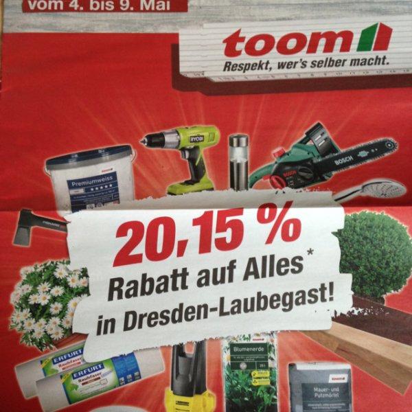 20,15 % Toom Dresden-Laubegast