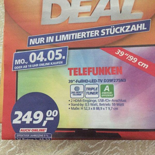 Telefunken 39 Zoll Full Hd triple Tuner