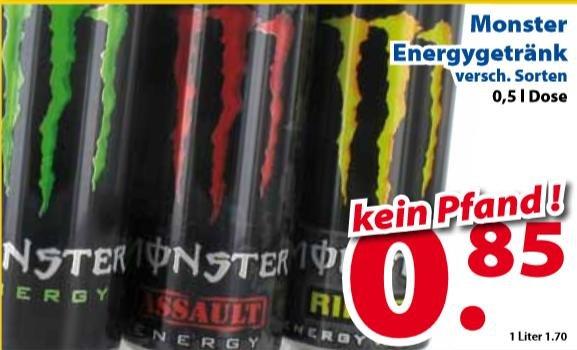 [Lokal] für Grenzgänger Monster Energygetränk