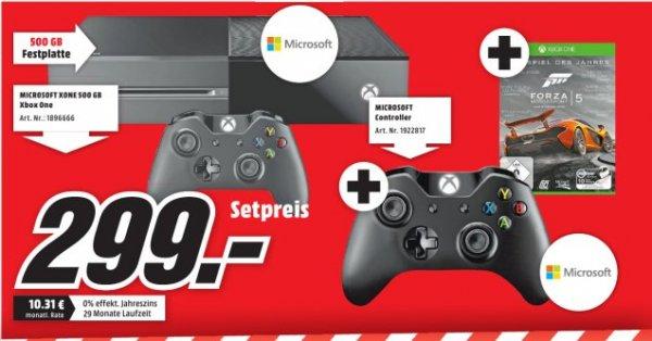[Lokal Mediamarkt PortaWestfalica] Xbox One 500GB Inkl. 2 Controllerund Forza 5 für 299,-€