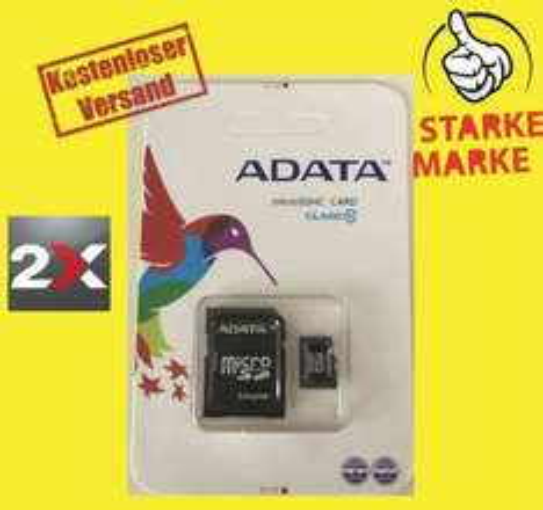 2x ADATA 64 GB Micro SD SDHC Class 10 für 34,99€