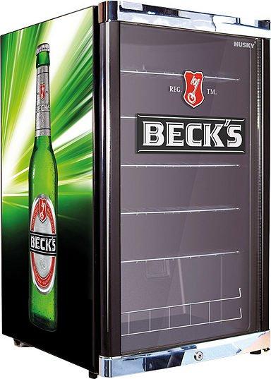 [Amazon.de] Husky Flaschenkühlschrank 130l mit Beck's-Branding für 161,26 €