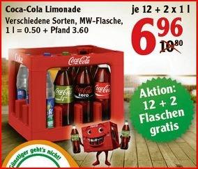 [Lokal Globus Limburg] 1x Kiste Cola (Fanta, Sprite, etc) + 2x 1l-Flaschen