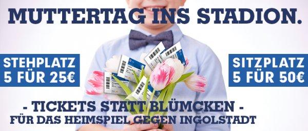 VfL Bochum 1848 Tickets statt Blümcken: An Muttertag ins Stadion! 5 Karten zum Preis von ca. 2