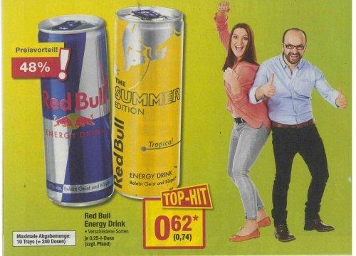 [Metro] Red Bull 0,25-l-Dose für 74 Cent Brutto!