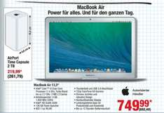 "[Metro 07.-20.05.] MacBook Air 13,3"" i5 / 128GB Flash / 4GB Ram für 892,49 €"