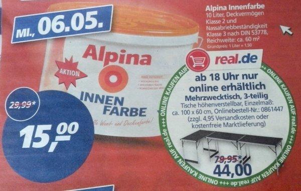 [Lokal Real Duisburg] Alpina Innenfarbe 10l für 15€