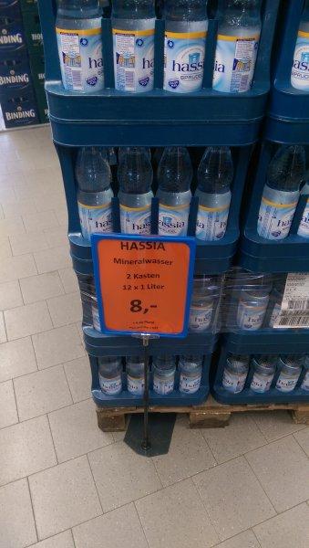 [Lokal? Alzenau] Edeka Getränkemarkt: Hassia Mineralwasser (Sprudel/Leicht) 2 Kästen = 8€